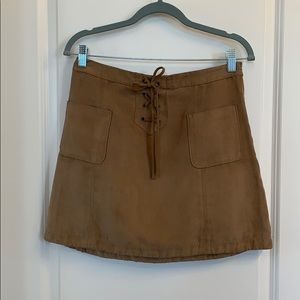 Hollister Suede mini skirt